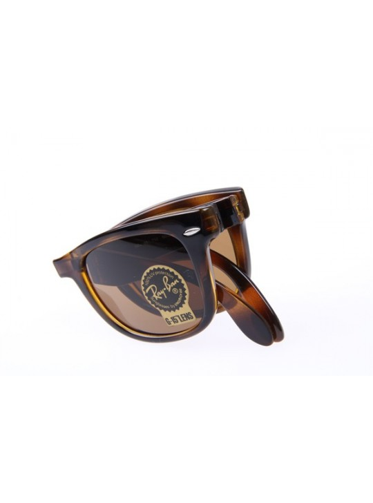 Ray Ban Folding Wayfarer RB4105 50-20 Sunglasses in Tortoise