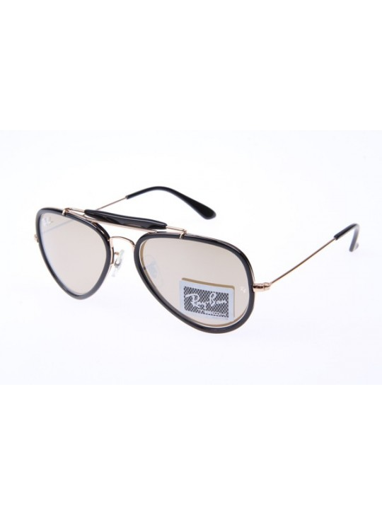 Ray Ban RB3428 Sunglasses In Black Gold with Gold Mirror