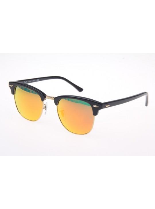 Ray Ban RB3016 Sunglasses In Black Orange Lens 901 69