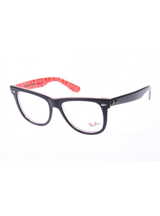 Ray Ban Wayfarer RB5121 54-18 Letter eyeglasses in Black Red 1016