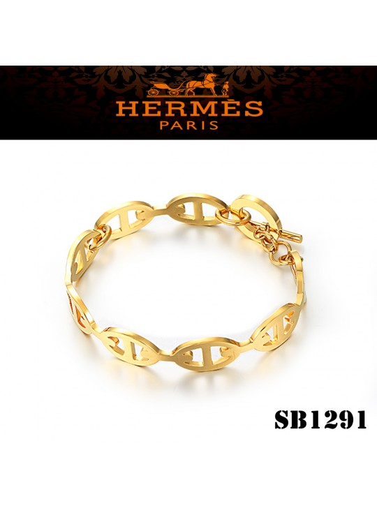 Hermes Chaine d'Ancre Enchainee Yellow Gold Bracelet