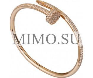 Amulette de Cartier Earrings Pink Gold Copy Pink Opal 2 Diamonds Fake B8301240
