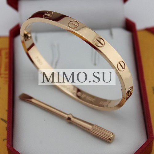 Cartier Love Bracelet Copy Pink Gold Plated Real With Screwdriver