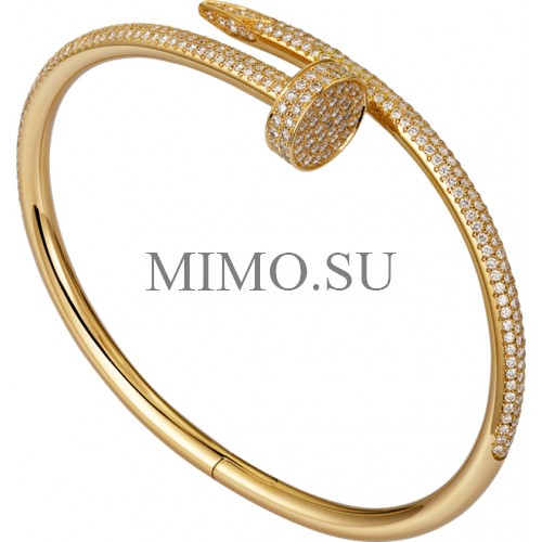 Cartier Juste Un Clou Bracelet Fake 18k Yellow Gold Plated Nail Bracelet With Diamonds Copy N6709817