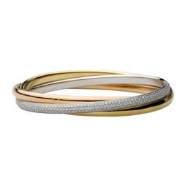 Cartier Trinity De Cartier Bracelet Replica 3-Gold Set With Diamonds
