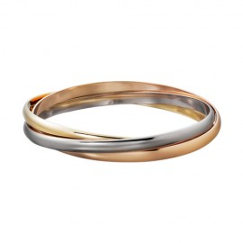 Trinity De Cartier Fake Three Ring 3-Gold Bracelet