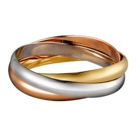 Trinity De Cartier Replica Three Ring 3-Gold Bracelet