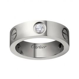 Cartier Love White Gold Ring Fake 3 Diamonds