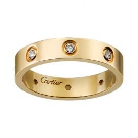Cartier Love 18k Yellow Gold Ring Replica 8 Diamonds