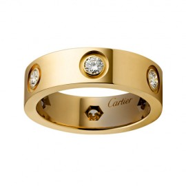 Cartier Love Ring Replica 18k Yellow Gold with 6 Diamonds