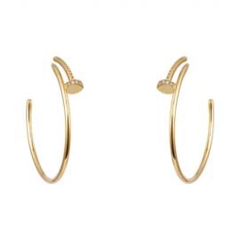 Cartier Juste Un Clou Earrings Copy 18k Yellow Gold 28 Diamonds