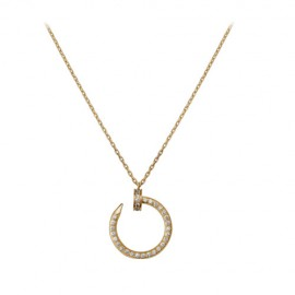 Cartier Juste Un Clou Necklace 18k Yellow Gold Copy Set 36 Diamonds Nail Pendant