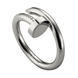 Cartier Juste Un Clou Ring Replica Plated Real White Gold