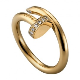 Cartier Juste Un Clou Ring 18k Yellow Gold Diamond