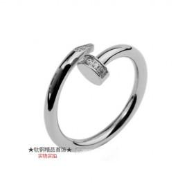 Cartier Juste Un Clou Ring Replica 18k White Gold Diamonds