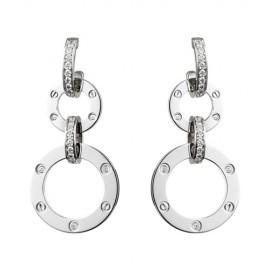 Cartier Love Earrings White Gold Diamonds Replicas