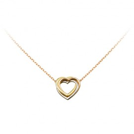 Trinity De Cartier Necklace Replica 3-Gold Heart Pendant