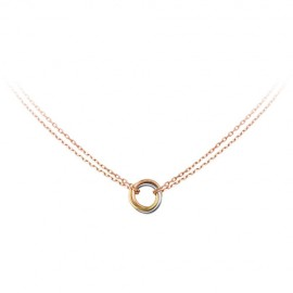 Trinity De Cartier Pink Gold Necklace Fake 3-Gold Pendant