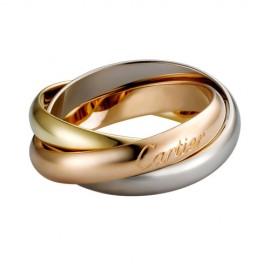 Trinity De Cartier 3-Gold Ring Replica Medium Model