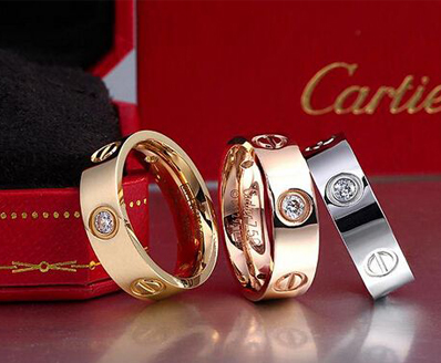buy replica Cartier love ring real gold from our replica cartier jewelry online shop