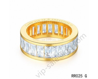Cartier Round ring in yellow gold with crystal