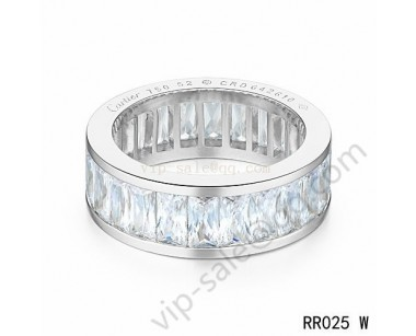 Cartier Round ring in white gold with crystal