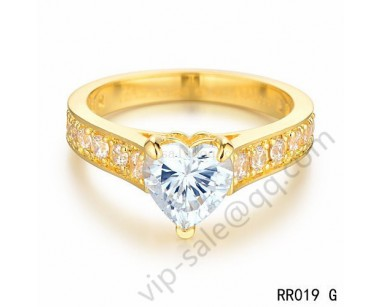 Cartier destin茅e solitaire wedding band ring in yellow gold with diamonds