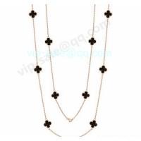 Van cleef & arpels Vintage Alhambra Necklace/Yellow Gold/Onyx