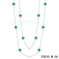 Van cleef & arpels Vintage Alhambra Necklace/White Gold/10 Motifs
