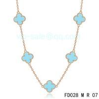Van cleef & arpels Vintage Alhambra Necklace/Pink Gold/5 Motifs
