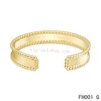Van Cleef and Arpels open bracelet/yellow gold