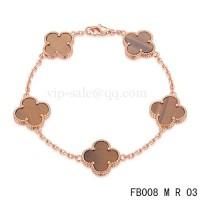 Van cleef & arpels Alhambra bracelet<li>Pink with 5 Gradient red clover