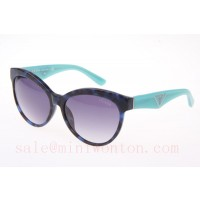 Prada OPR23QS Sunglasses In Blue Tortoise Green