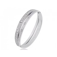 Cartier Love double row bracelet in white gold with diamonds