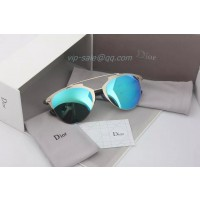 Dior Reflected Sunglasses in white and bule Lens