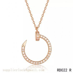 Cartier Juste un Clou pendant in 18K pink gold with diamonds