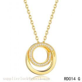 Cartier small model paris nouvelle vague pendant in yellow gold