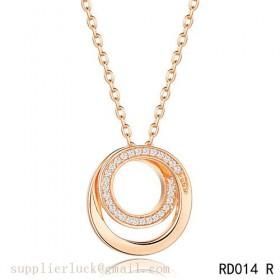 Cartier small model paris nouvelle vague pendant in pink gold