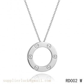 Cartier love pendant necklace in white gold
