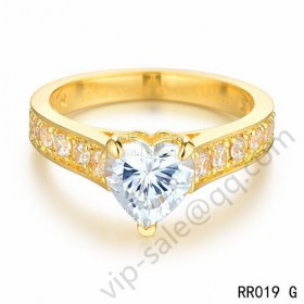 Cartier destin�e solitaire wedding band ring in yellow gold with diamonds