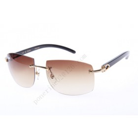 2016 Cartier 4189705 Black Cattle Horn sunglasses, Gold