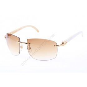 2016 Cartier 4189705 White Cattle Horn sunglasses, Gold