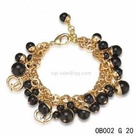 Dior black pearl bracelet in pink