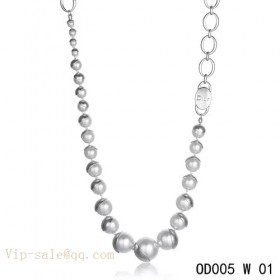 "White Pearls ""MISE EN DIOR"" long necklace in white gold"