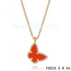 Van cleef & arpels Sweet Alhambra Butterfly Pendant/Pink Gold