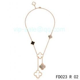 Van cleef & arpels Magic Alhambra Necklace/Pink Gold/5 Motifs