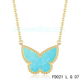 Van cleef & arpels Sweet Alhambra Butterfly Necklace/Yellow Gold