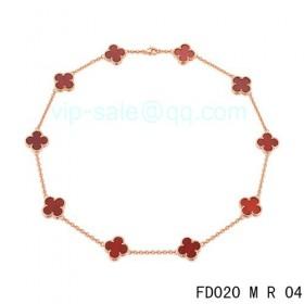 Van cleef & arpels Vintage Alhambra Necklace/Pink Gold/10 Motifs