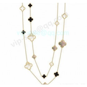 Van cleef & arpels Magic Alhambra Necklace/Yellow Gold/Mother-Of-Pearl