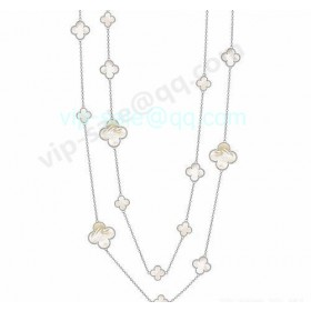 Van cleef & arpels Magic Alhambra Necklace/White Gold/Mother-Of-Pearl